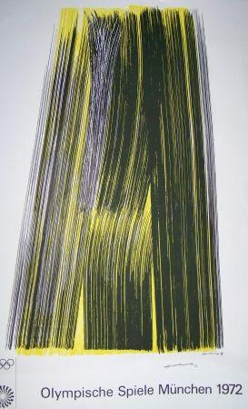 Lithograph Hartung - Olympiische spiele munchen 1972