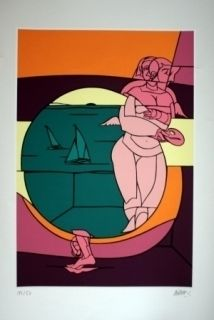 Lithograph Adami - Olympique 92
