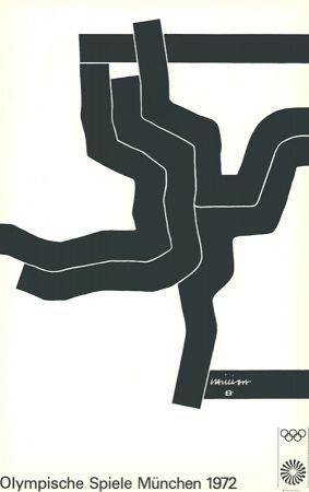Lithograph Chillida - Olympische Spiele München 1972