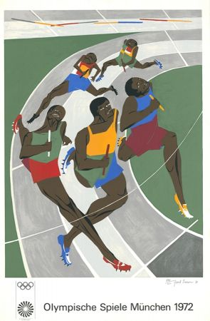Screenprint Lawrence - Olympische Spiele München 1972 (The Runners)