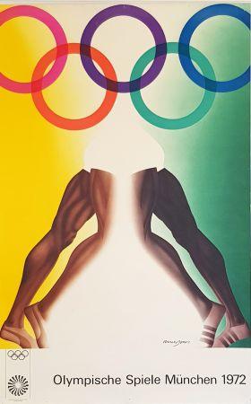 Poster Jones - Olympishe  Spiele  Munchen  1972