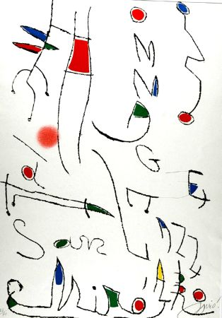 Etching And Aquatint Miró - Omage a San Lazzaro