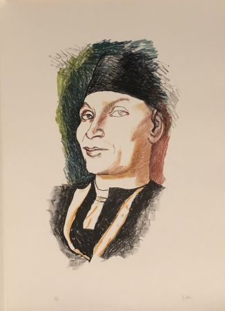Lithograph Guttuso - Omaggio a Antonello da Messina