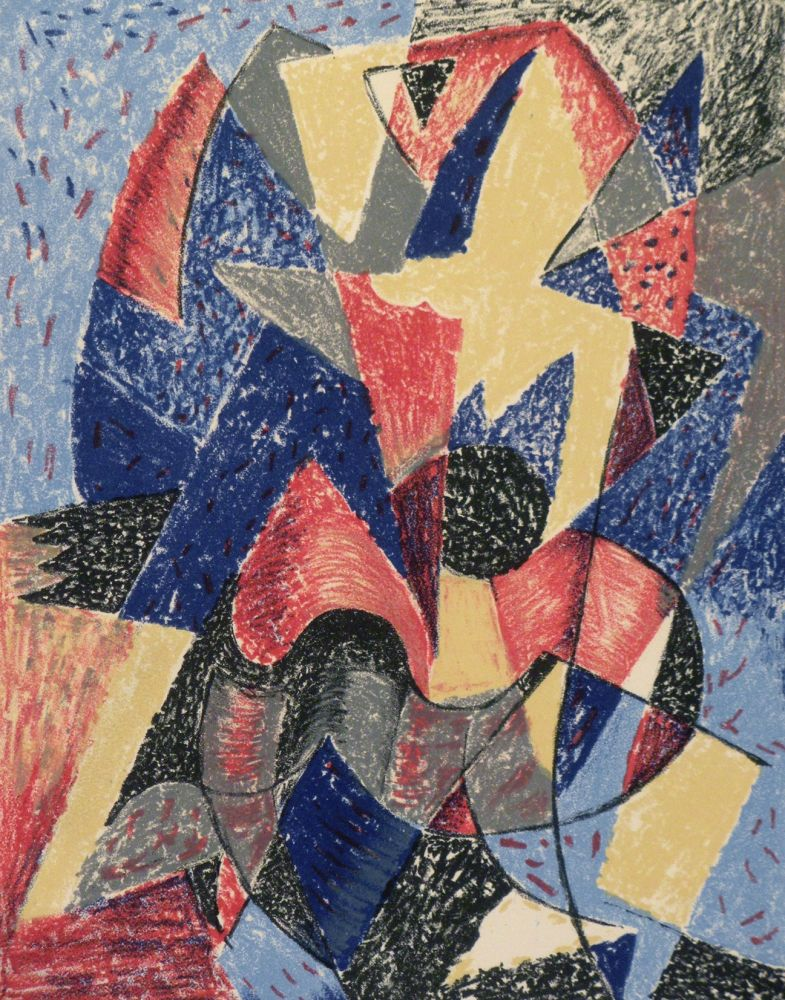 Lithograph Severini - Omaggio a Boccioni