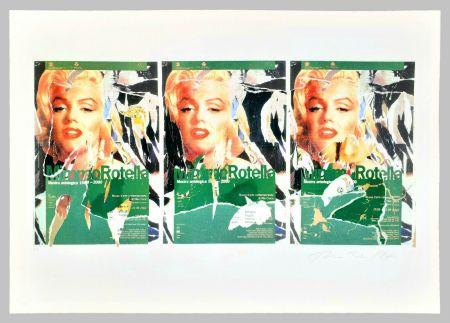 Screenprint Rotella - Omaggio a Marilyn