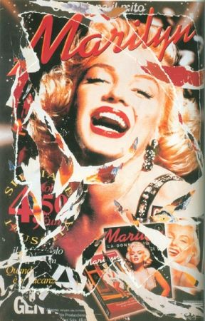Screenprint Rotella - Omaggio a Marilyn (A Tribute to Marilyn) I