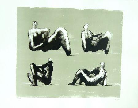 Lithograph Moore - Omaggio a Michelangelo
