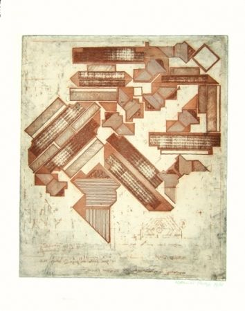 Etching Paolozzi - Omaggio a Michelangelo