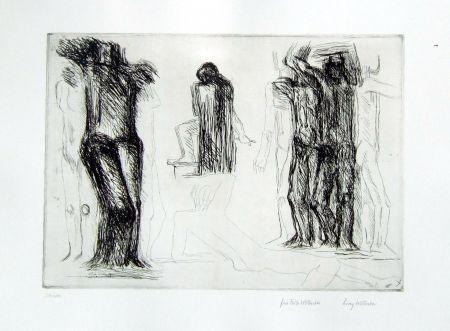 Etching Wotruba - Omaggio a Michelangelo