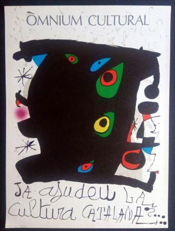 Poster Miró - Omnium Cultural - Ja ajudeu la cultura catalana