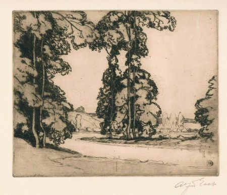 Etching East - On the Banks of the Seine