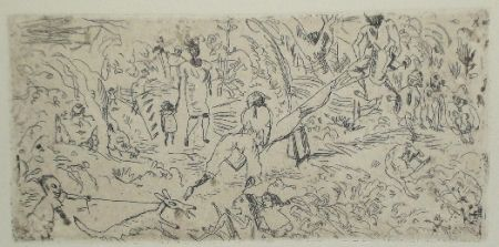 Engraving Pascin - On the South