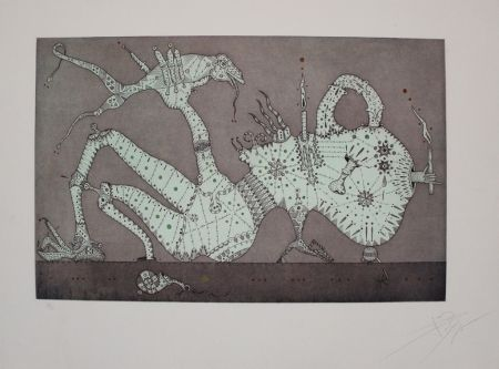 Etching And Aquatint Ponc - Onanista