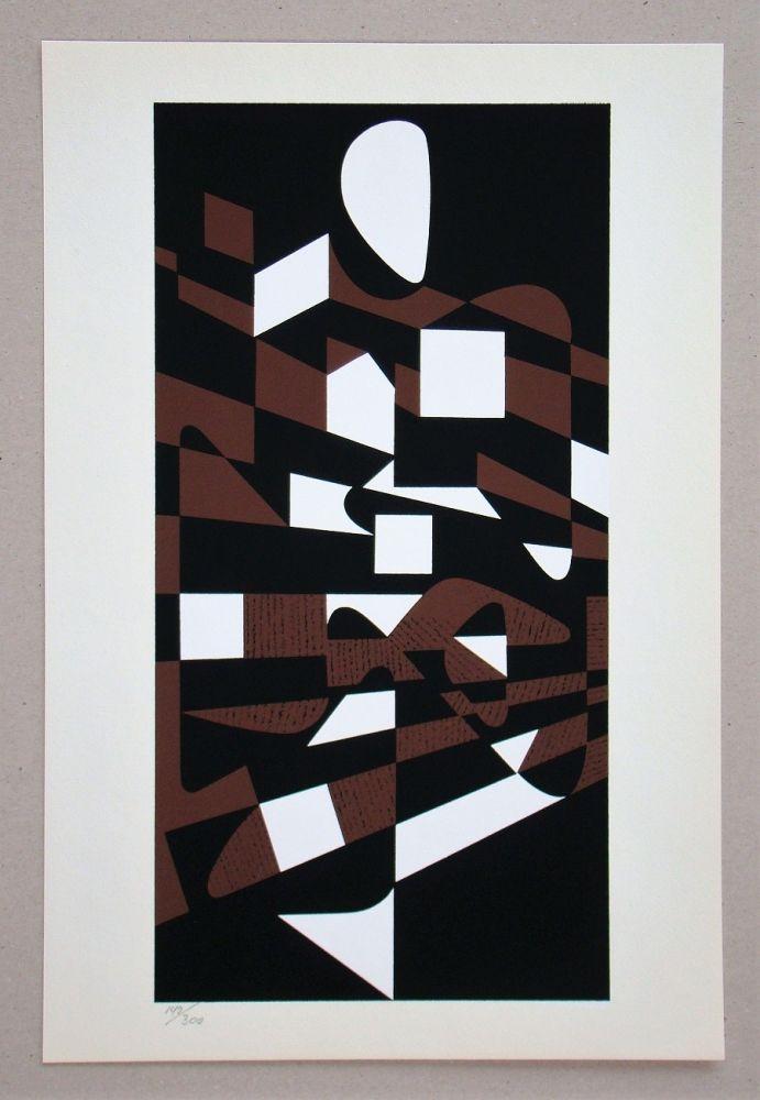 Screenprint Vasarely - Onega II.
