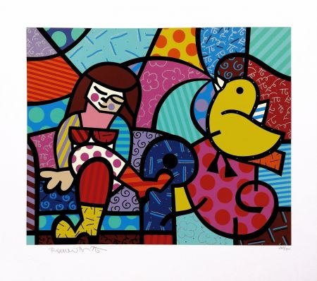 Screenprint Britto - ONLY YOU CAN HEAR
