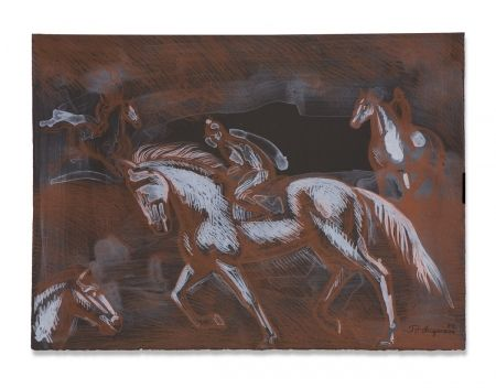 Lithograph Anguiano - Onyx Horses