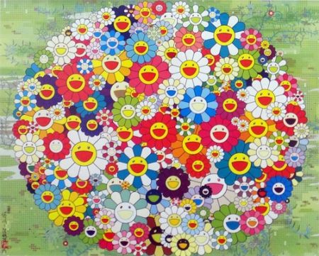 Lithograph Murakami - Open Your Hands Wide (Versailles)