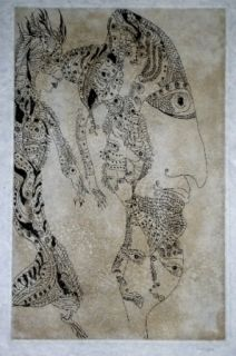 Etching And Aquatint Zurn - Oracles et spectacles