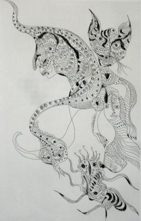 Etching And Aquatint Zurn - Oracles et spectacles 2