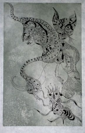 Etching And Aquatint Zurn - Oracles et spectacles (2)
