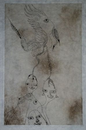 Etching And Aquatint Zurn - Oracles et spectacles (3)