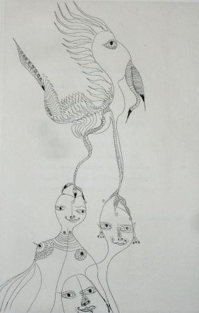Etching And Aquatint Zurn - Oracles et spectacles 3