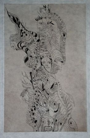 Etching And Aquatint Zurn - Oracles et spectacles (4)