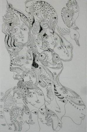 Etching And Aquatint Zurn - Oracles et spectacles 7