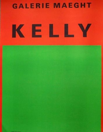 Poster Kelly - Orange and green abstract