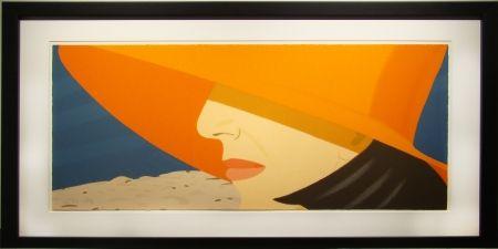 Screenprint Katz - Orange Hat