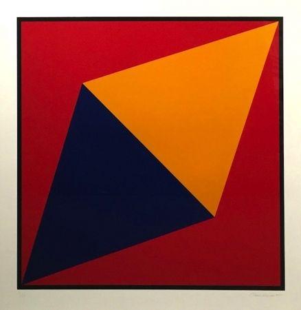 Screenprint Hinman - Orange Triangle