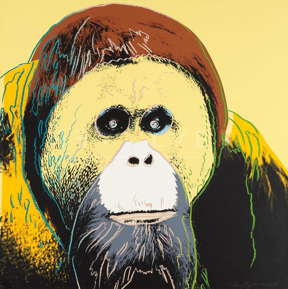 Screenprint Warhol - Orangutan (FS II.299)