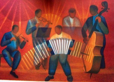 Lithograph Toffoli - Orchestre