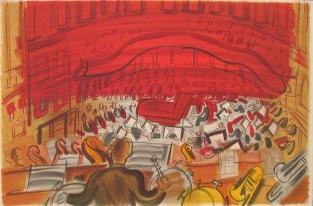 Lithograph Dufy - Orchestre
