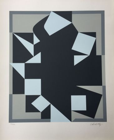 Screenprint Vasarely - Orgovan