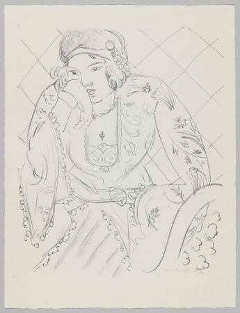 Lithograph Matisse - Orientale à la croix trifoliée