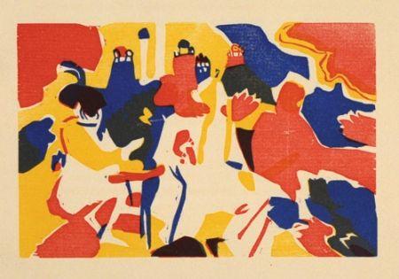 Woodcut Kandinsky - Orientalisches