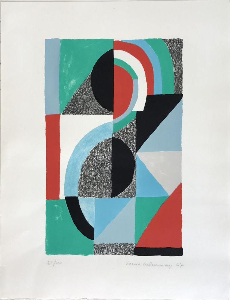 Lithograph Delaunay - Oriflamme 1967