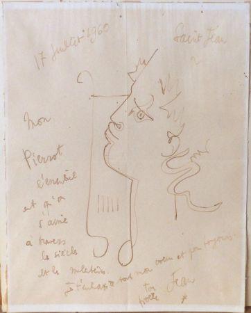 No Technical Cocteau - Orphée à la lyre. Dessin signé