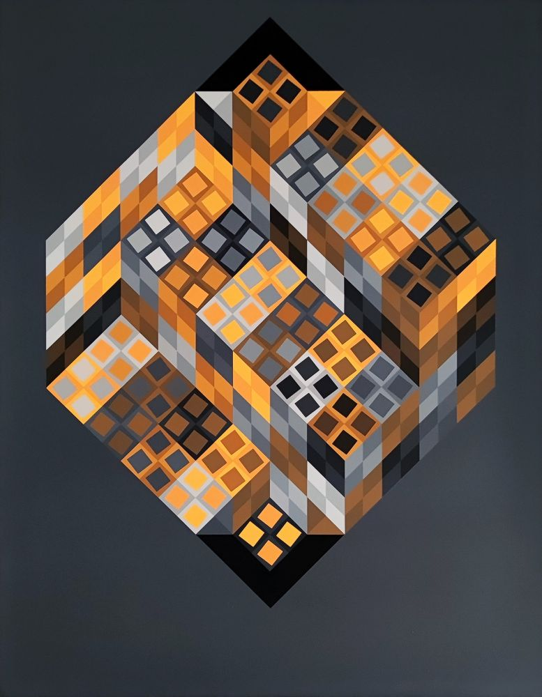 Screenprint Vasarely - Orvar