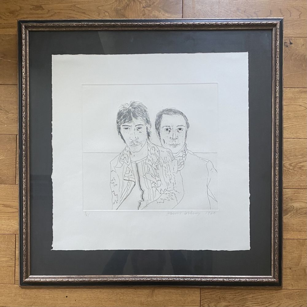 Etching Hockney - Ossie and Mo