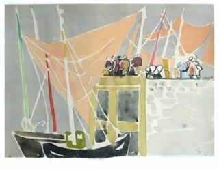 Lithograph Pignon - Ostende