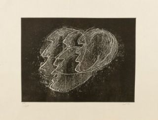 Etching And Aquatint Fautrier - Otages fond noir