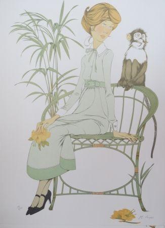 Lithograph Noyer - Ouistiti