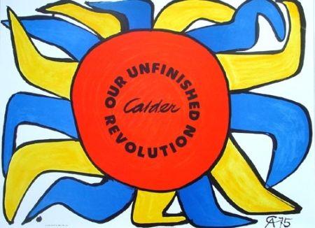 Lithograph Calder - Our unfinished révolution