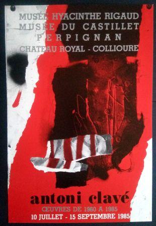 Poster Clavé - Ouvres 1980 1985 Museé du Castillet Perpignan