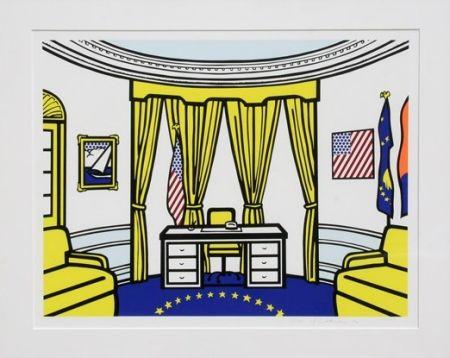Screenprint Lichtenstein - Oval Office