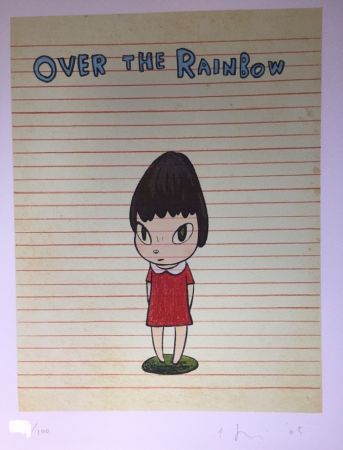 Lithograph Nara - Over the rainbow