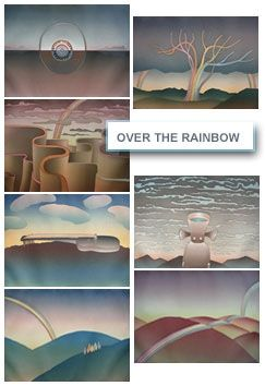 Etching And Aquatint Folon - Over The Rainbow (complet suite)
