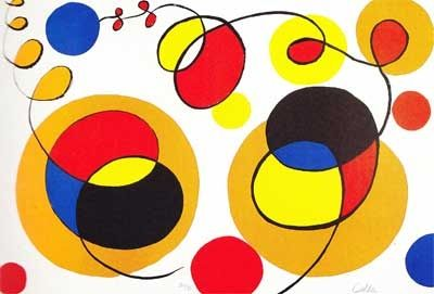 Lithograph Calder - Overlapping